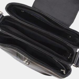 Уникальная черная сумка с росписью ATS-2688 214541