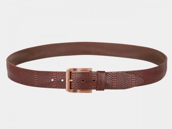 Стильный светло-коричневый мужской джинсовый ремень ATS-813
