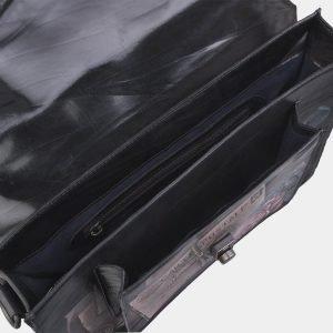 Модный черный портфель с росписью ATS-2696 214518