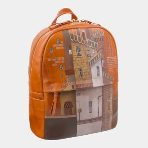 Модный оранжевый рюкзак с росписью ATS-2709 214496