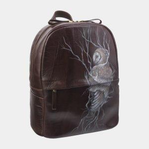 Вместительный коричневый рюкзак с росписью ATS-2710 214491