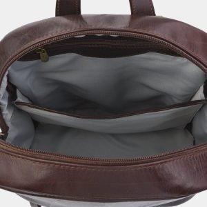 Вместительный коричневый рюкзак с росписью ATS-2710 214493