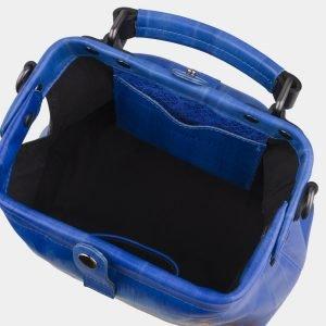 Модная голубовато-синяя сумка с росписью ATS-2701