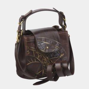 Солидная коричневая сумка с росписью ATS-2741 214418