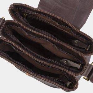 Солидная коричневая сумка с росписью ATS-2741 214419