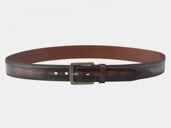 Деловой коричневый мужской джинсовый ремень ATS-2121