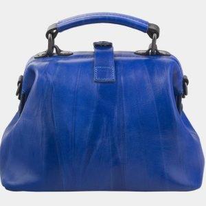 Вместительная голубовато-синяя сумка с росписью ATS-2812 214307