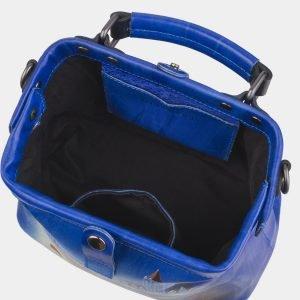 Вместительная голубовато-синяя сумка с росписью ATS-2812 214309