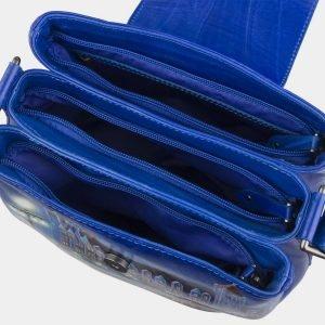 Деловая голубовато-синяя сумка с росписью ATS-2811 214314