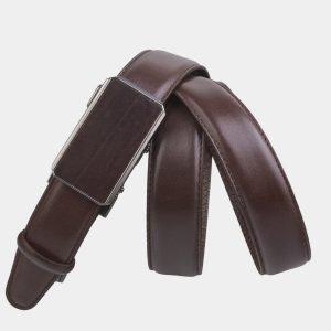 Кожаный коричневый женский модельный ремень ATS-2719 214476