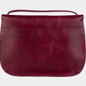 Солидный темно-бордовый клатч с росписью ATS-2117 215819