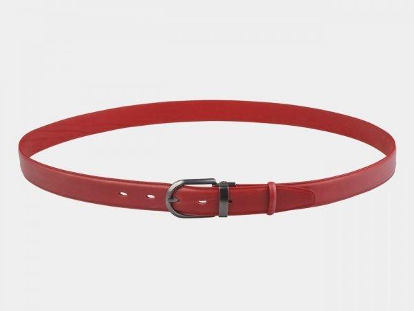 Солидный красный женский модельный ремень ATS-2727