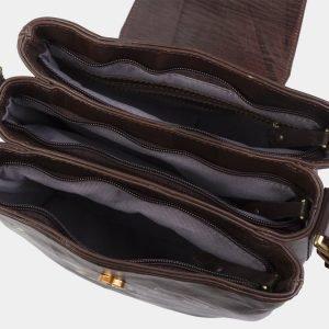 Модная коричневая сумка с росписью ATS-2822 214269
