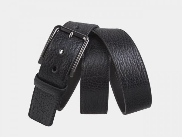 Неповторимый черный мужской джинсовый ремень ATS-2747