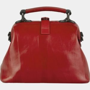 Стильная красная сумка с росписью ATS-2104 215852