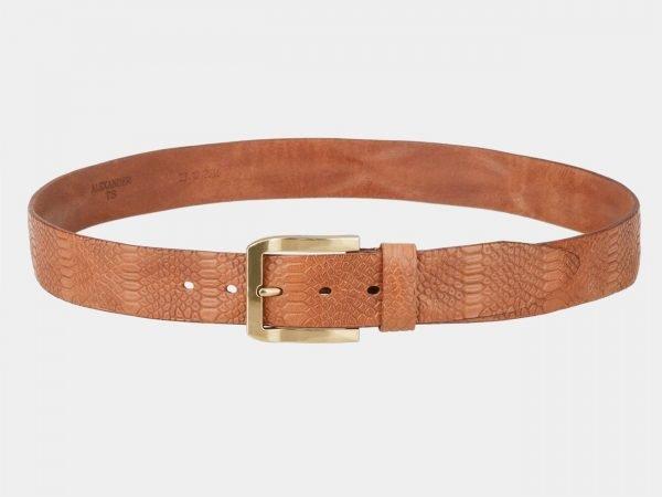 Стильный темно-оранжевый женский джинсовый ремень ATS-804