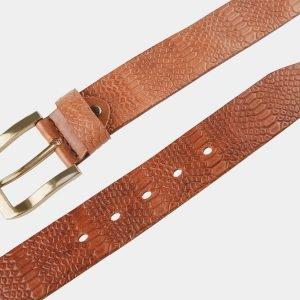 Стильный темно-оранжевый женский джинсовый ремень ATS-804 217124