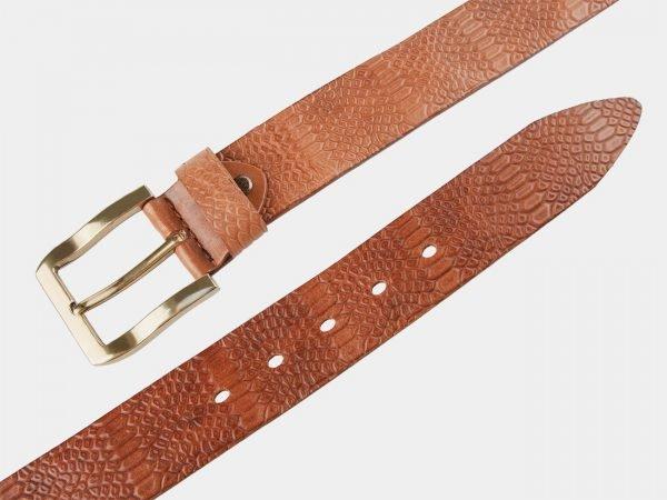 Уникальный темно-оранжевый женский джинсовый ремень ATS-804