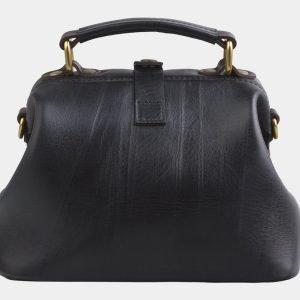 Кожаная черная сумка с росписью ATS-2820 214272