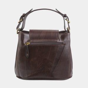 Стильная коричневая сумка с росписью ATS-2819 214277
