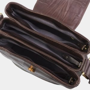 Стильная коричневая сумка с росписью ATS-2819 214279