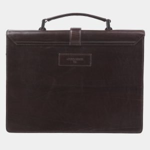 Кожаный коричневый портфель с росписью ATS-2823 214262