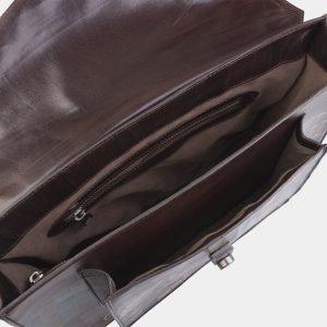 Кожаный коричневый портфель с росписью ATS-2823 214264