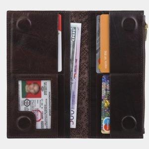 Неповторимый коричневый портмоне с росписью ATS-2824 214259