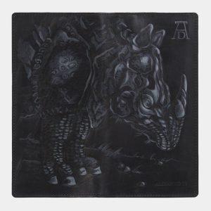 Функциональный черный портмоне с росписью ATS-2825 214254