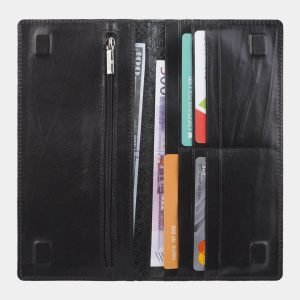 Функциональный черный портмоне с росписью ATS-2825 214255