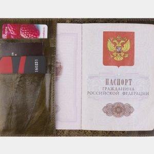Удобная желтовато-зелёная обложка для паспорта ATS-2202 215688