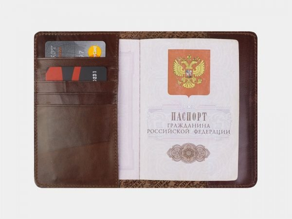 Неповторимая светло-коричневая обложка для паспорта ATS-2216
