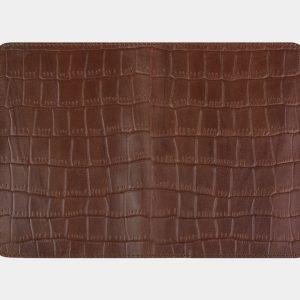 Деловая светло-коричневая обложка для паспорта ATS-2215 215645