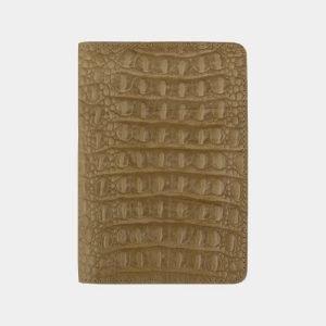 Стильная бежевая обложка для паспорта ATS-2219