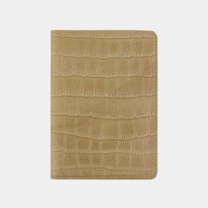 Кожаная бежевая обложка для паспорта ATS-2220