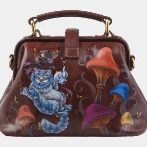Неповторимая светло-коричневая сумка с росписью ATS-2817