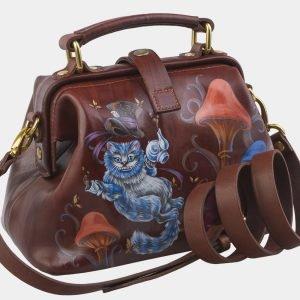 Неповторимая светло-коричневая сумка с росписью ATS-2817 214288