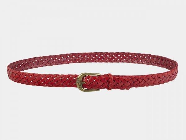 Уникальный красный женский модельный ремень ATS-2134