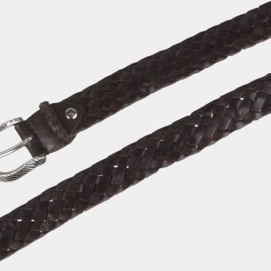 Кожаный коричневый женский модельный ремень ATS-2137