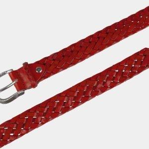 Кожаный красный женский модельный ремень ATS-2139 215774