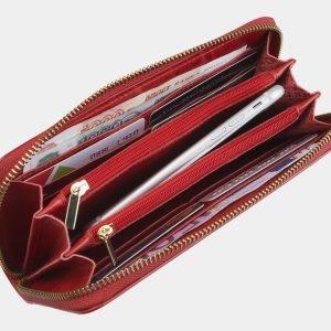 Неповторимый красный портмоне с росписью ATS-2826 214251
