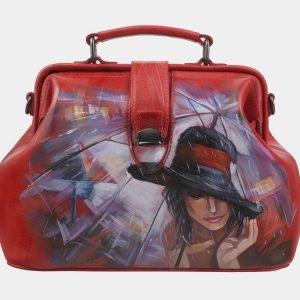 Неповторимая красная сумка с росписью ATS-2814