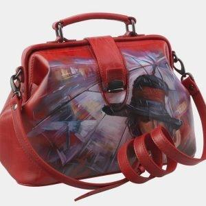 Неповторимая красная сумка с росписью ATS-2814 214298
