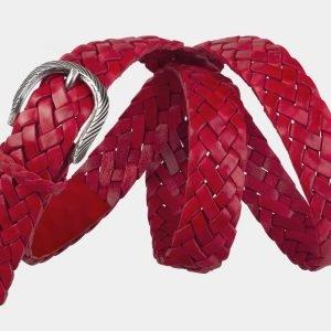 Солидный красный женский модельный ремень ATS-2140 215771