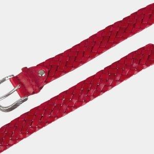 Солидный красный женский модельный ремень ATS-2140 215770