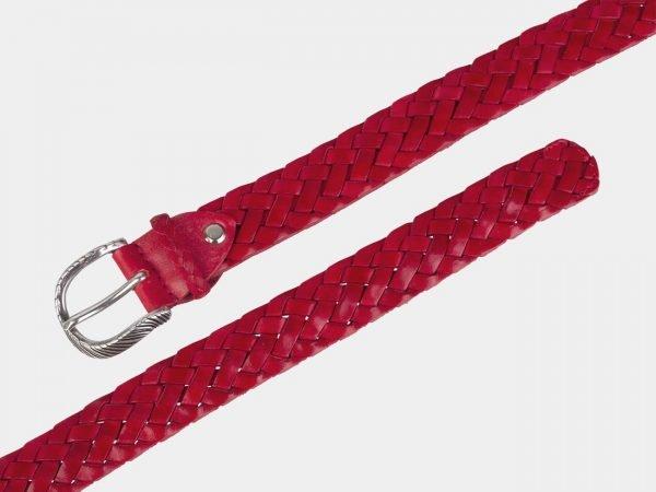Солидный красный женский модельный ремень ATS-2140