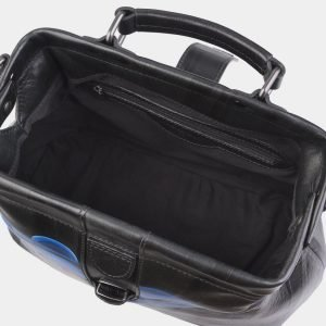 Деловая голубовато-синяя сумка с росписью ATS-2813 214304