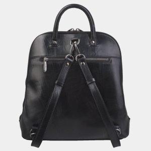 Кожаный черный рюкзак с росписью ATS-2800