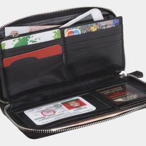 Кожаный черный портмоне ATS-2794 214322