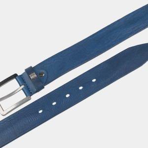 Уникальный голубовато-синий мужской джинсовый ремень ATS-3354 212733